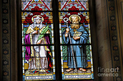 Photograph - Glass Saints by Brenda Kean