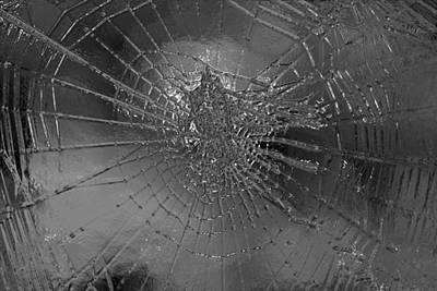 Glass Wall Digital Art - Glass Spider by Carol Lynch