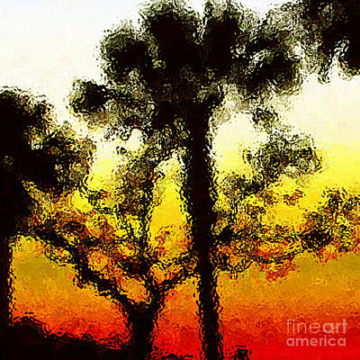 Glass Sunset Art Print by Gayle Price Thomas