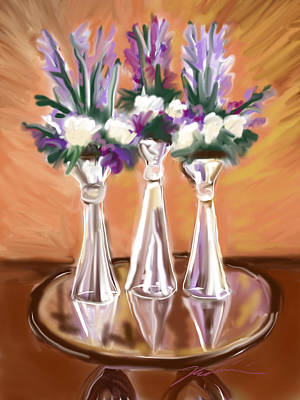 Painting - Glass Vases by Jean Pacheco Ravinski