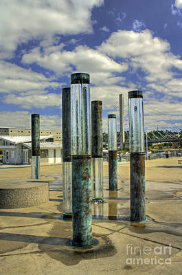 Photograph - Glass Water Columns by Chris Anderson