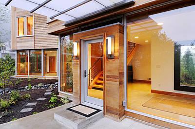 Glass Windows In Modern Home Art Print by Will Austin
