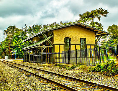 Photograph - Glassboro Train Station by Nick Zelinsky