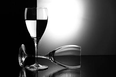 Checkers Photograph - Glasses by