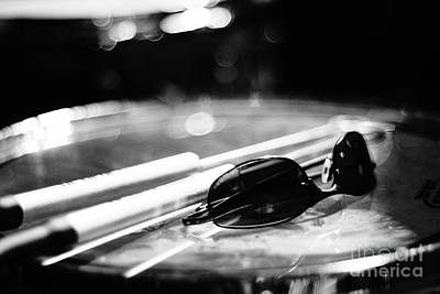 Photograph - Glasses And Sticks Bw by Lynda Dawson-Youngclaus