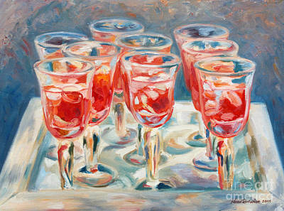 Stemware Painting - Glasses by Noune Tahmassian Morse