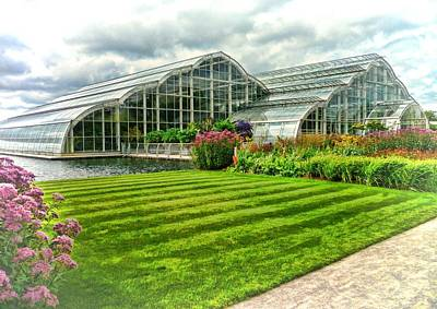Glasshouse At Wisley Art Print