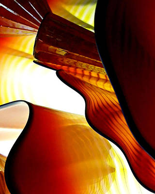 Photograph - Glassware Abstract by Wayne Wood