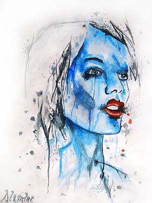 Painting - Glassy Girl by Atinderpal Singh