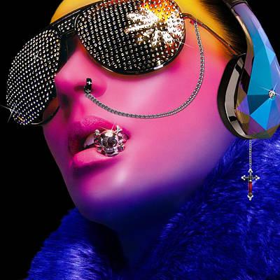 Earring Set Digital Art - Glassy by Jean raphael Fischer