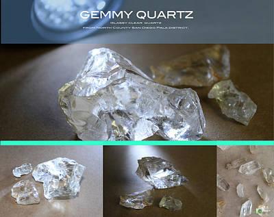 Digital Art - Glassy Quartz by Justin Hiatt