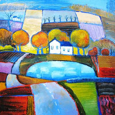 Glastonbury Farmhouse Art Print