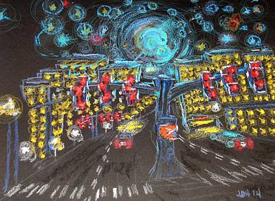 Glaucoma Starry Night Original by Joseph Hawkins