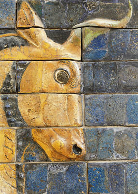 Glazed Brick Bull, Ishtar Gate, Babylon Art Print by Ken Welsh