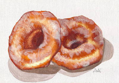 Oven Painting - Glazed Donuts by Debi Starr