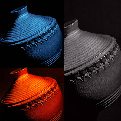 Photograph - Glazed Pottery...trio by Tom Druin