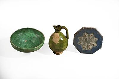 Ceramics Photograph - Glazed Terracotta Vessels by Science Photo Library