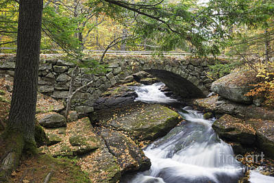 Stone Masons Photograph - Gleason Falls Bridge - Hillsborough New Hampshire Usa by Erin Paul Donovan