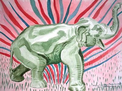 Gleeful Elephant Art Print