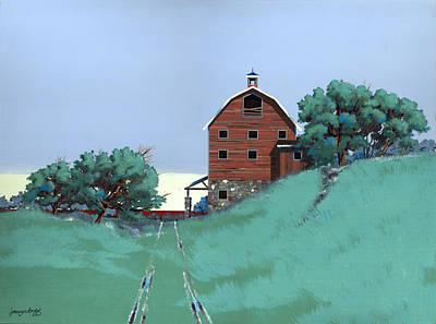 Glen Painting - Glen Barn by John Wyckoff