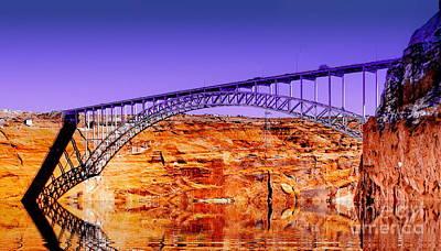 Page Bridge Digital Art - Glen Canyon Bridge Fantasy by Tim Richards