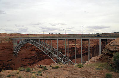 Photograph - Glen Canyon Bridge by Gladys Turner Scheytt