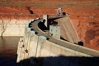 Glen Canyon Photograph - Glen Canyon Dam Across Colorado River by David Wall