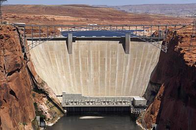 American Southwest Digital Art - Glen Canyon Dam - Bridge by Mike McGlothlen