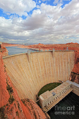 Hydro Wall Art - Photograph - Glen Canyon Dam by Inge Johnsson