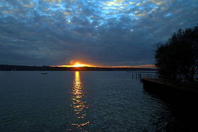 Photograph - Glen Cove Sunset 3 by Bob Slitzan