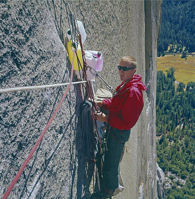 Photograph - T-306607-glen Denny With Me On El Cap First Ascent 1962 by Ed  Cooper Photography