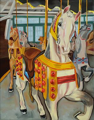 Glen Echo Park Painting - Glen Echo Carousel by Anne Lewis