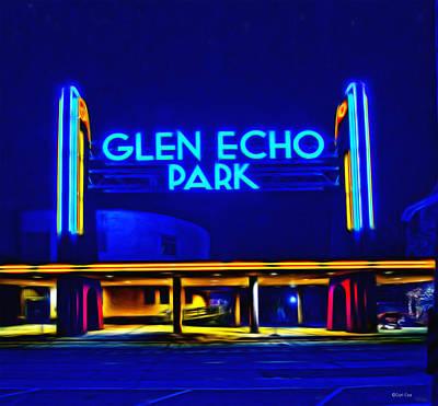 Glen Echo Park Photograph - Glen Echo Park At Night by Carl Cox