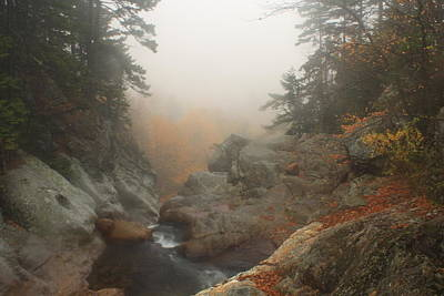 Photograph - Glen Ellis Falls Lip Autumn Mist by John Burk