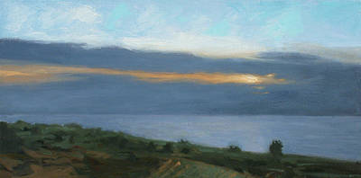 Painting - Glen Haven At Dusk by Charles Pompilius
