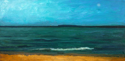Painting - Glen Haven Beach At Nightfall by Charles Pompilius