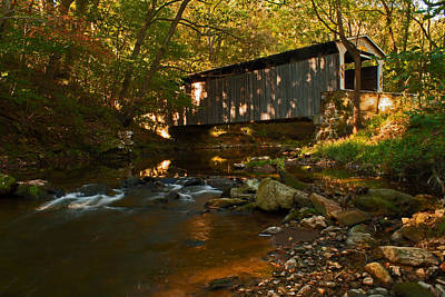 Photograph - Glen Hope Covered Bridge by Michael Porchik