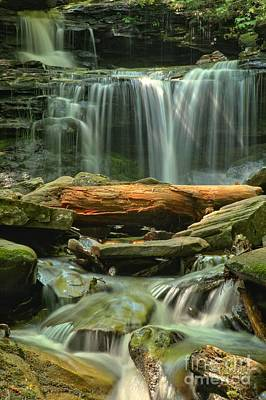 Photograph - Glen Leigh River Rocks And Falls by Adam Jewell
