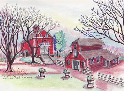 Glen Magna Farms - The Barns Art Print by Paul Meinerth