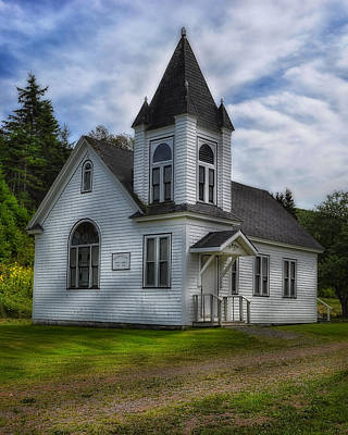 Photograph - Glen Valley United Church Nova Scotia by Steve Hurt
