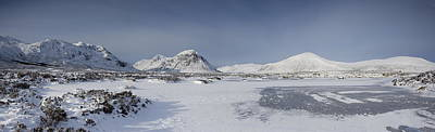 Rannoch Moor Digital Art - Glencoe And Buchaille Etive Panoramic by Pat Speirs