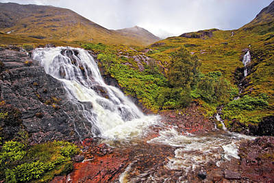 Mountain Photograph - Glencoe Waterfall by Marcia Colelli