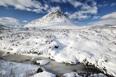 Photograph - Glencoe Winter Mountain Scenery by Grant Glendinning