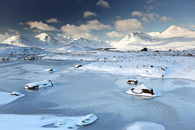 Photograph - Glencoe Winter Scenery by Grant Glendinning