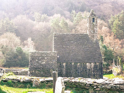 Photograph - Glendalough Stone Building by Judi FitzPatrick