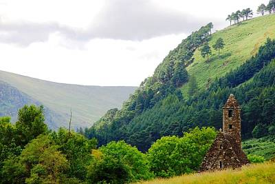 Photograph - Glendalough Church by Charlie and Norma Brock