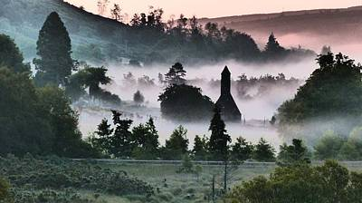 Photograph - Glendalough Mist by Nigel Cameron