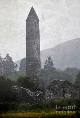 Photograph - Glendalough Tower. Ireland by Jenny Rainbow