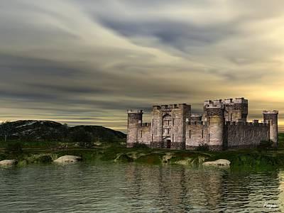 Knights Castle Digital Art - Glendor Castle by John Pangia