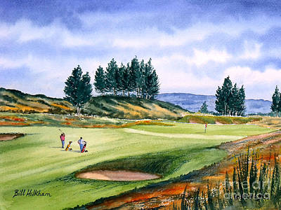 Scotland Painting - Gleneagles - The Kings Golf Course by Bill Holkham